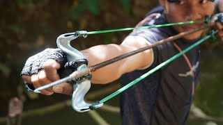 How To Make Powerful Slingshot From Bicycle Stem & PVC Pipe | Powerful Slingshot VS Huge Fish