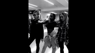 Fifth Harmony Normani and Dinah Jane Twerk at Strangers at Airport  3/10/16
