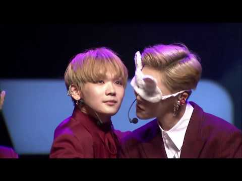 [ENG SUB] JBJ BOF Fanmeet - Hyunbin's Secret + Blindfold Game Cut
