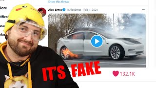 Fooling The Internet With An Exploding Tesla