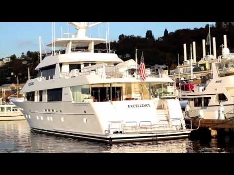 Yacht:  Westport 130' M/Y Excellence in her slip.  Yachting NW