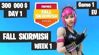 Fortnite Fall Skirmish Week 1 Day 1 Game 1 EU Highlights