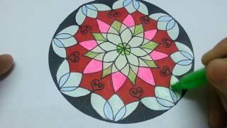 Draw channel/Vẽ trang trí hình tròn thật đơn giản/draw circles and decorate