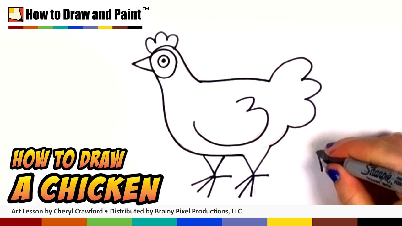 How to Draw a Chicken Step by Step - Draw a Cute Hen Easy ...