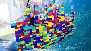GIANT LEGO Battleship Game! BOYS vs. GIRLS
