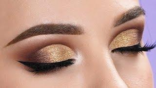 FANCY GOLD Half Cut Crease Makeup Tutorial