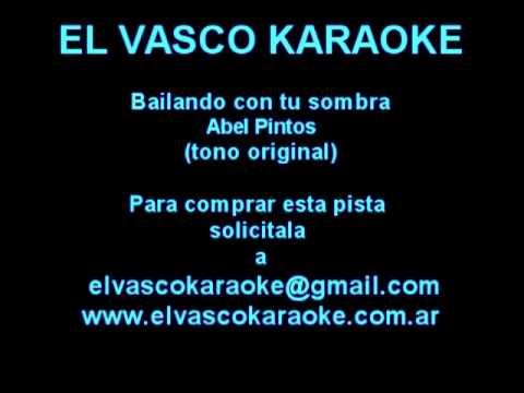 Bailando con tu sombra  -  Abel Pintos  - Demo Karaoke