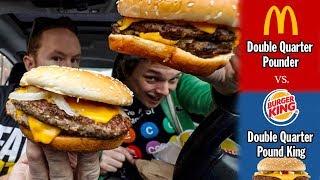 McDonald's Double Quarter Pounder vs. Burger King's Double Quarter Pounder King