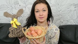Velikonoční dekorace, pletení z papíru - neobvyklé věnce na dveře, malování vajec