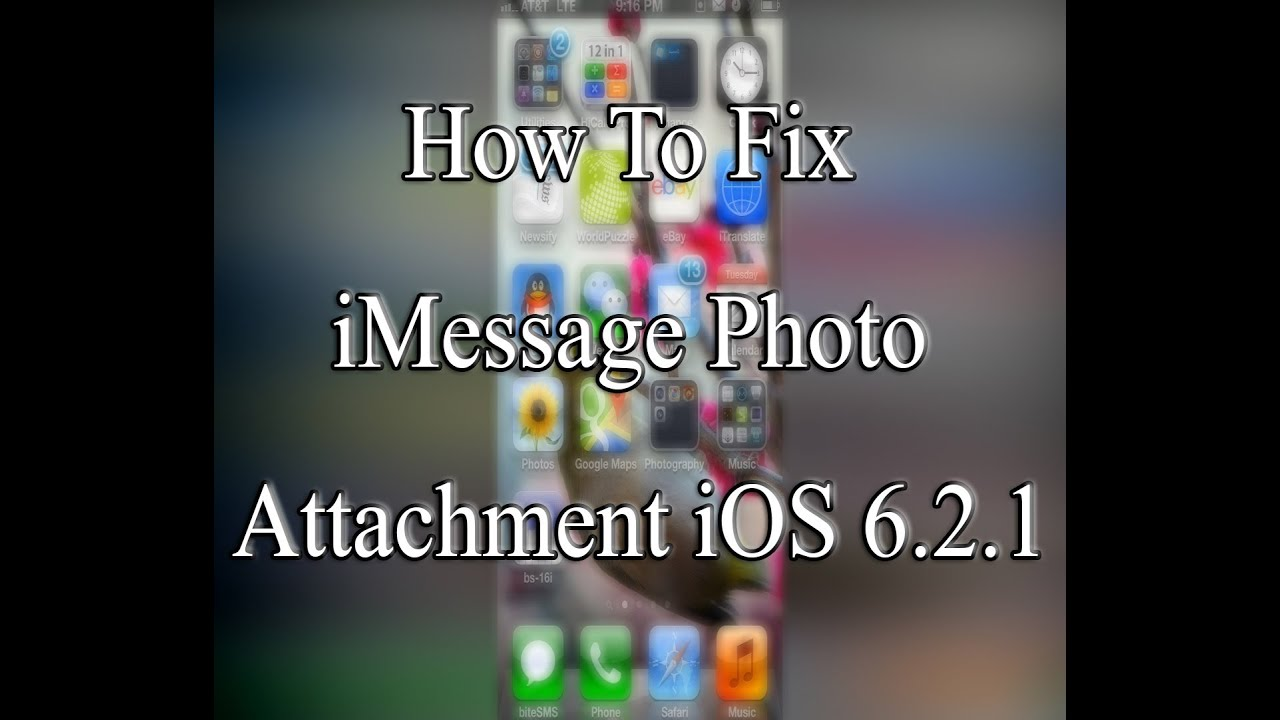Fix Imessage Photo Attachment Ios 6 2 1 Not Working Sending