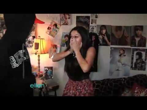 Justin-Bieber sorprende a una fan-En Ellen