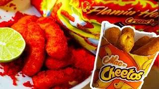 DIY Flamin'  HOT Burger King MAC n CHEETOS! Taste Test!!