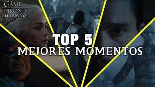 LOS 5 MEJORES MOMENTOS en Game Of Thrones | Game of Thrones en español