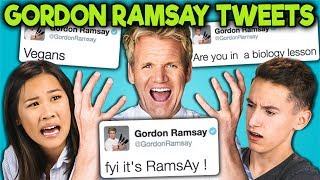 TEENS READ GORDON RAMSAY'S SAVAGE TWEETS!!! (React)