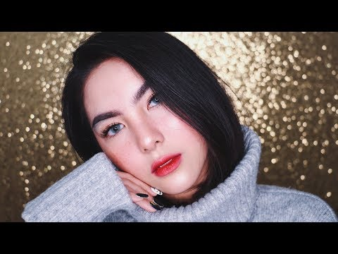 Christmas Winter Glass Skin with Faux Freckles Makeup Tutorial ❄️