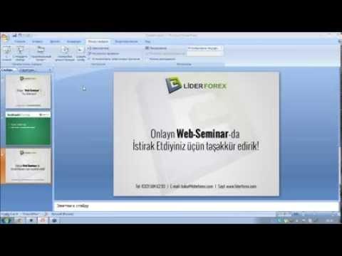 Texniki analiz 1-ci hissə (06.01.2014 - Onlayn Web Seminar)