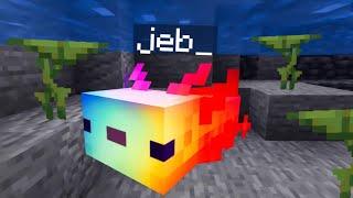 Rainbow Axolotls in Minecraft!