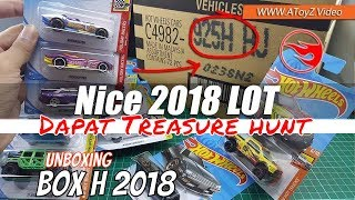 AGAIN! Got T Hunted on Hot Wheels 2018 H Case Unboxing - Review Indonesia