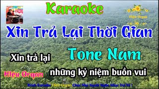 Karaoke 7979 Xin Trả Lại Thời Gian Nhạc Sống Tone Nam || Hiệu Organ Guitar 7979