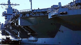 AT LAST! New GIGANTIC SUPERCARRIER USS Gerald R. Ford begins SEA TRIALS!