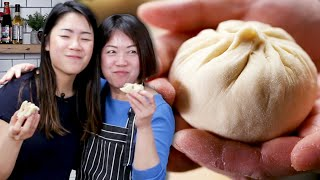 Mom Teaches Daughter How To Make Bao