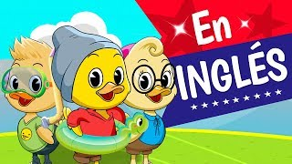 CINCO PATITOS En Inglés, Canciones infantiles, Five Little Ducks