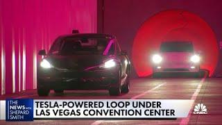 Inside Elon Musk's underground loop tunnels in Las Vegas