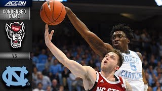 NC State vs. North Carolina Condensed Game | 2018-19 ACC Basketball