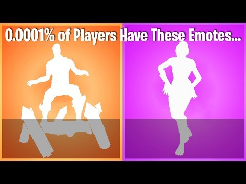 TOP 10 RAREST EMOTES IN FORTNITE (nobody in the world has #1)