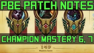 Champion Mastery Level 6 und 7 via Hextech Crafting - PBE Patch Notes | League of Legends