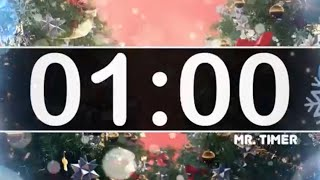 1 Minute Timer with Christmas Music - Jingle Bells - Instrumental Christmas Music for Kids!