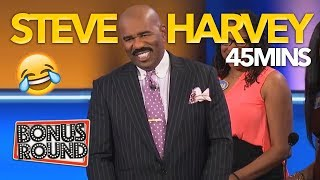 When STEVE HARVEY Is The Question! Funny Moments On Family Feud USA!