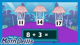 Meet the Math Drills Addition - 8's