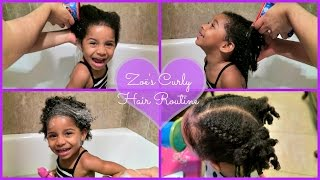 Toddler Curly Hair Routine