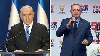 إردوغان يصف نتنياهو quotبالإرهابيquot بعد سقوط قتلى غزة     -