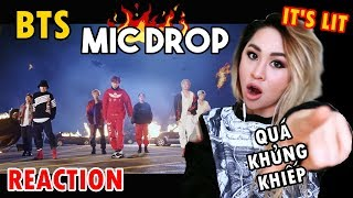 REACTING to BTS Mic Drop (Steve Aoki Remix) Official MV!