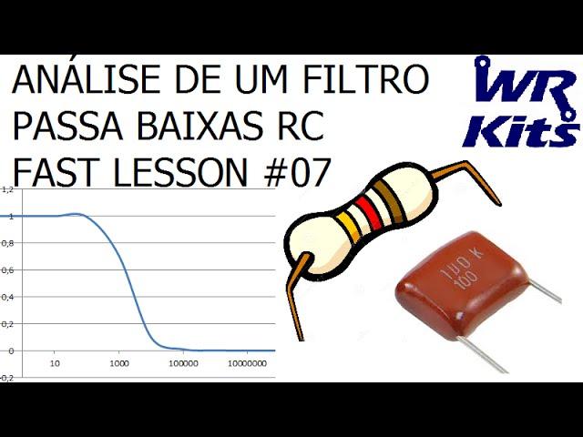 ANÁLISE DE UM FILTRO PASSA BAIXAS RC | Fast Lesson #07
