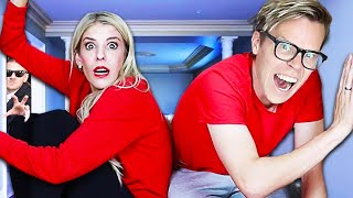 24 Hours TRAPPED in Tiny Escape Room! (Escaping GMI to Reveal Truth) Matt and Rebecca