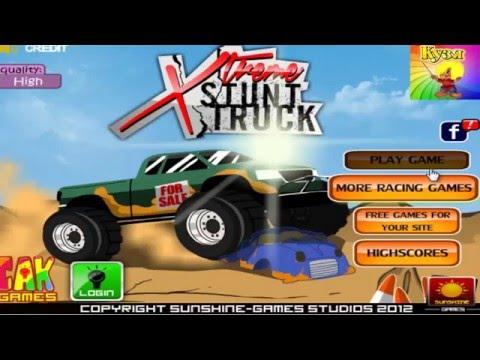 Xtreme Stunt Truck Игра мультик для детей