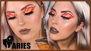Aries FIRE Makeup Tutorial 🐏♈ ZODIAC SIGNS SERIES 💕