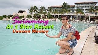 Khám phá hồ bơi ở resort 5 sao Dreams Playa Mujeres 🇲🇽116》 Swimming at 5 stars resort, Cancun