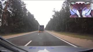 Погоня и задержание автовоза с пьяным дальнобойщиком