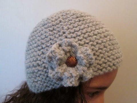 comment tricoter une fleur sur un bonnet