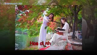 NHỚ MÃI THỜI HOA ĐỎ, nhạc sỹ: Nguyễn Hữu Minh karaoke co loi  mp4