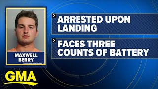 Unruly passenger duct-taped to seat after allegedly assaulting flight attendants l GMA