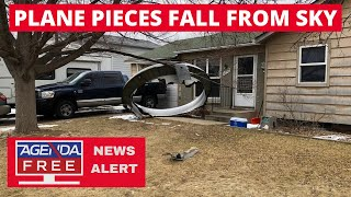 Plane Pieces Fall from Sky in Broomfield, Colorado - LIVE BREAKING NEWS COVERAGE