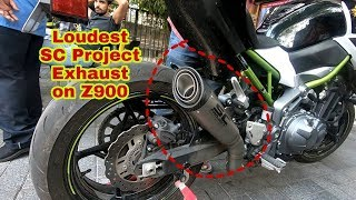 Z900 exhaust SC Project S1     With NO DB KILLER!!! Videos