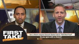 First Take reacts to Giancarlo Stanton trade to Yankees | First Take | ESPN
