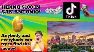 I HID $100 AT RANDOM PARKS! (San Antonio Matched It!)