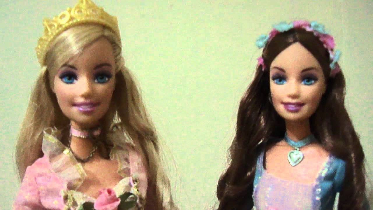 Barbie as the princess and the pauper dolls singing in ...